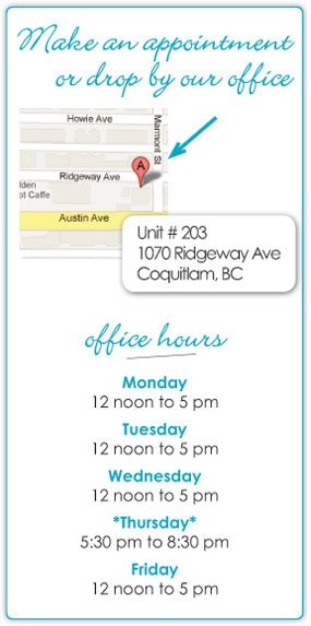 Hours of business, location for Pregnancy Concerns, Image